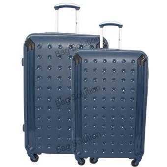 harga Navy Club Tas Koper Set Hardcase Fiber - PP 4 Roda Resleting Anti Tusuk - Kunci TSA - 3867 Size 20+24 - Biru Tua Lazada.co.id