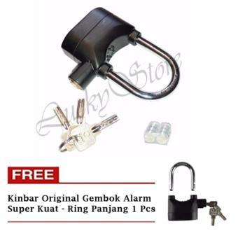 Harga Lucky Kinbar Original Gembok Alarm Super Kuat - Ring Panjang + Gratis Kinbar Original Gembok
