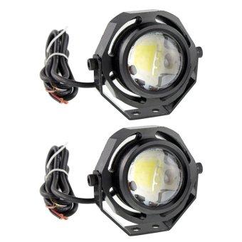 Harga 2 buah 10 watt Universal kendaraan Ultra terang mata elang DRL tongkol dipimpin cahaya lampu