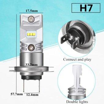 Harga 2Pcs H7 White High Power Fog Light Lamp Headlight LED Bulbs intl .