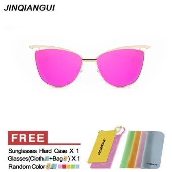 ... harga Kacamata Hitam Wanita Mata Kucing Retro Ungu Polaroid Bingkai Kacamata Lensa Buatan Pengemudi Wanita Oculos