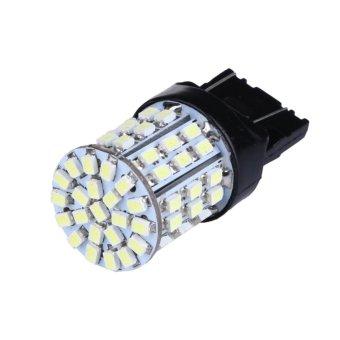 2X T20 W21W 7443 7440 LED 64-SMD 1206 Tail Stop Brake Light Bulb Lamp White - Intl - intl ...