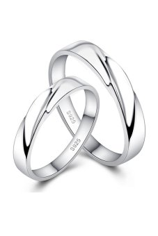 harga Cincin Pernikahan - Palladium Exclusive LZ 05 Elegan Rings USA Diamond - Couple Lazada.co.id