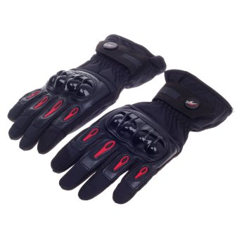 ZUNCLE PRO-BIKER Stylish Waterproof Warm Full Finger Motorcycle Racing Gloves (Black /Red)