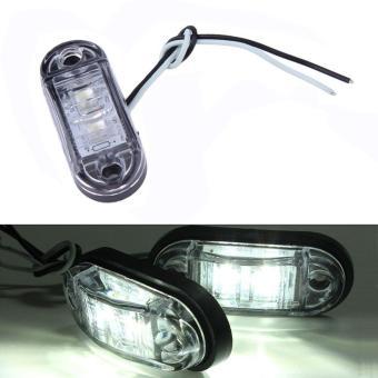 Allwin 2pcs Piranha LED Side Marker Blinker Light Lamp For Car Truck Trailers 12/24V White ...