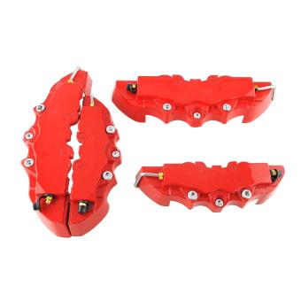 harga OEM 4 buah 3D Brembo Mobil Universal kaliper rem cakram depan dan belakang sampul Merah Lazada.co.id