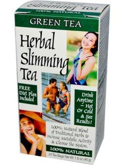 21st Century Health Care, Herbal Slimming Tea, Green Tea, Caffeine Free