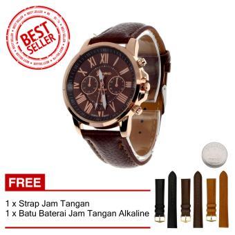 Geneva Free Strap Jam Tangan - Jam Tangan Wanita - Cokelat - Strap Kulit - TPT4122705CKLT1. >>>>