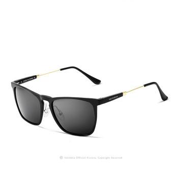 Harga Terbaru VEITHDIA Pria Square retro aluminium kacamata hitam terpolarisasi Biru vintage Eyewear Aksesoris Lensa Kacamata
