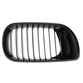 Matt kisi-kisi Grill depan ginjal untuk BMW E46 02-05 4 pintu 4D 3 seri