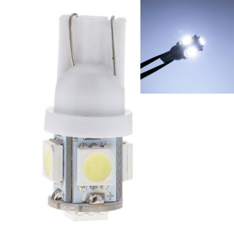 Whyus-New Arrival 10pcs T10 5050 5-SMD Creative LED Auto Car Wedge Lights Side Bulbs Lamp W5W 2825 158 192 168 194 White - intl ...