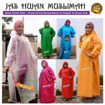 Harga Jas Hujan Muslimah Polos/Mantel Gamis - Best Seller