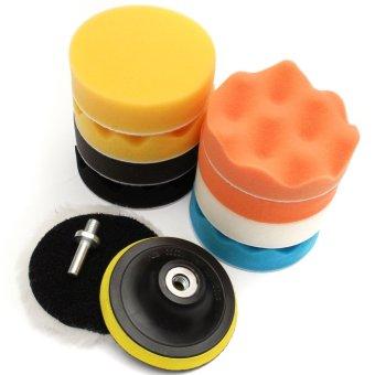 11pcs 4inch Sponge Polishing Waxing Buffing Pads Set + M14 Drill For Car Polisher - intl ...