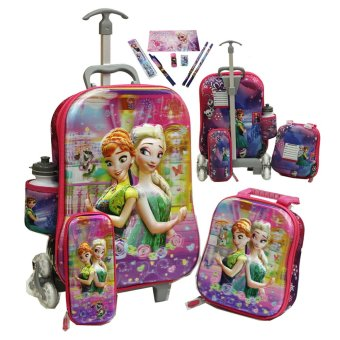 harga Onlan Disney Frozen Fever Beautiful 5D Timbul Tas Trolley Anak Sekolah 4in1 Set 6 Roda Gagang Samurai dan Alat Tulis - Purple Lazada.co.id
