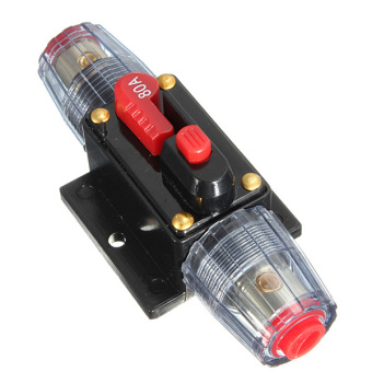 DC 12V Car Stereo Audio Circuit Breaker Inline Fuse Holder Protector 80AMP 80A