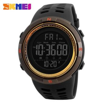 SKMEI Men Sports Watches Countdown Double Time Watch Alarm Chrono Digital Wristwatches 50M Waterproof Watches 1251