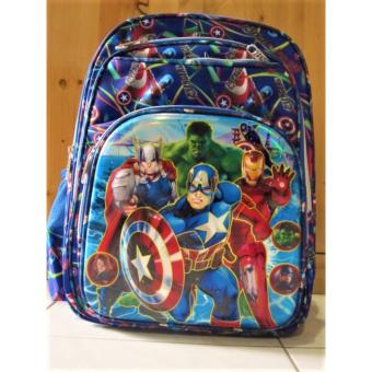 1001 - 1 pcs Tas Ransel Sekolah Anak SD Import 6D Avengers