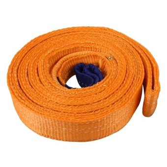 ZONGYUAN ZY-0223 Car 5m×5cm 8 Ton Towing 2 Ton Lifting Rope Straps High Strength Cable Cord Heavy Duty Recovery Securing Accessories For Cars Trucks(No Hook) - intl