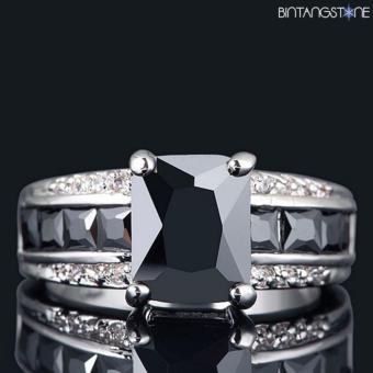 harga Cincin Import Black Onyx 10K White Gold Filled Mans Ring Size 8 Lazada.co.id