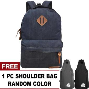harga Denim Respect Plain Backpack + FREE OREGANO Random Color Shoulder Bag Lazada.co.id