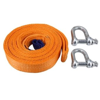 ZONGYUAN ZY-0223 Car 5m×5cm 8 Ton Towing 2 Ton Lifting Rope Straps With Two Hooks High Strength Cable Cord Heavy Duty Recovery Securing Accessories For Cars Trucks - intl
