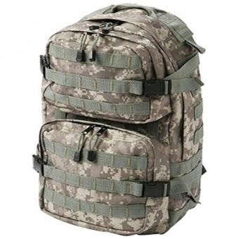 Genuine Heavy Duty Water Resistant Duralite Digital Camo US Military Tactical Backpack with Multiple Zippered Pockets