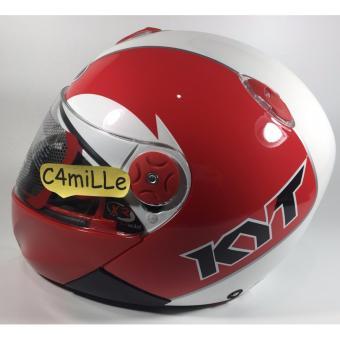 harga Helm Full Face KYT Xrocket / X Rocket White Red Lazada.co.id