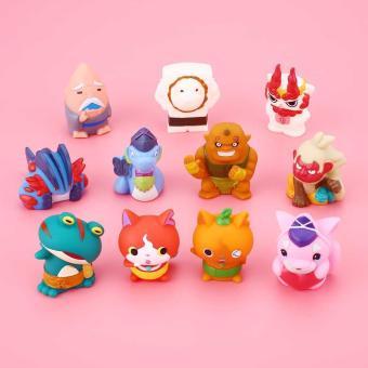 5pcs Lovely Minifigures Anime Yoka Designed Watch Figure Finger Toy Gift intl .