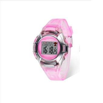 Synoke 99329 tempat perhiasan jam tangan tahan air olahraga elektronik 30 m Berwarna Merah Muda