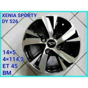 harga DAIHATSU XENIA DY526 Velg/Rims 14 Inch Silver Black 1 Set 5 Pcs Lazada.co.id