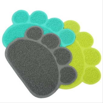 Cute Paw Shape Pets Feet Mat Placemat PVC Radiating Dog Cats Sleeping Feeding Pads (Coffee) - Intl