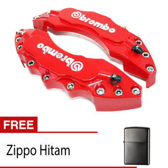 harga OTOmobil Cover Rem Brembo Large COMBO Cakram Brake Besar + Korek Zippo Hitam Lazada.co.id