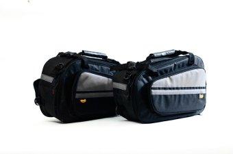 harga Cosh Sidebag Tas Samping Motor Oval Hardcase - Hitam dengan stripping abu Lazada.co.id