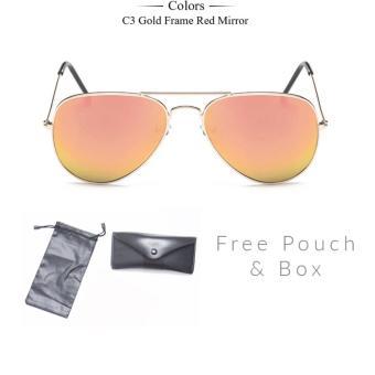 Harga Terbaru Kacamata Fashion Uni Aviator Eyewear Harley Sunglasses Pink  Gold . 4ecaf3e39d