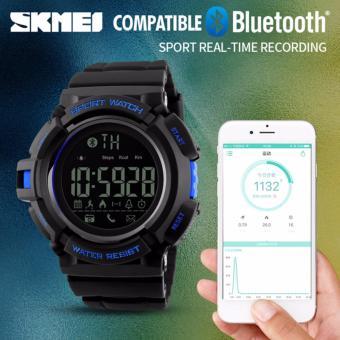 SKMEI 1245 smartwatch original blueorangeblack jam tangan fashion pria. >>>>