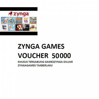 Voucher Zynga Games 50.000
