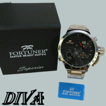 ... Harga Fortuner Jam Tangan Pria Silver Strap Stainless Steel Fr Source Fortuner FT6655701 Dual Time