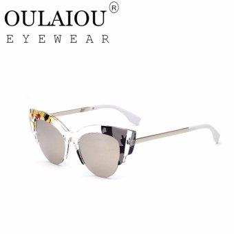 Oulaiou Fashion Accessories Anti UV Glasses Trendy Reduce Glare Sunglasses OFF0178 intl .