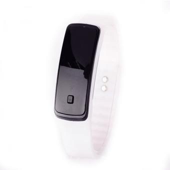 harga Olahraga LEDSilicone tali pengikat layar sentuh digital karet gelang perhiasan (putih) - International Lazada.co.id