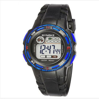 Synoke 99539 30M Waterproof life Students Unisex Sport Wristwatch Watch Blue
