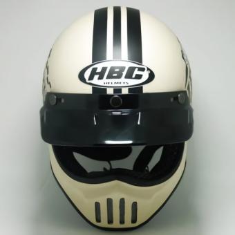 harga Helm Cakil HBC RUST DUST GADING MOTIF Cream SIZE READY (S-M-L-XL) Lazada.co.id