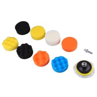 harga UINN 10pcs Waffle Polishing Buffer Pad Foam Buffing pad Set for Car Polisher Multicolor - intl Lazada.co.id