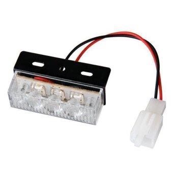 Yellow White 18 LED Flashing Emergency Strobe Dash Flash Light for Car Vehicle ...