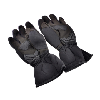ZUNCLE MADBIKE MD015# Stylish Waterproof Warm Full Finger Motorcycle Racing Gloves - Black