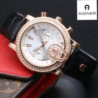 harga jam tangan wanita AIGNER AG-6751ZA Tanggal - Casual and Elegance  Genuine Leather Strap 7f9cc93190