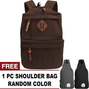harga Korean Universal Backpack + FREE SP-OREGANO Random Color Shoulder Bag Lazada.co.id