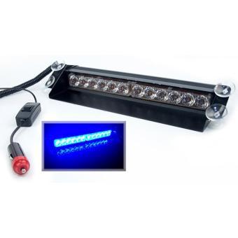 harga OTOmobil Lampu LED Bar Strobo IN 2 Baris 12 Tempel Kaca Dashboard Sirene Polisi -