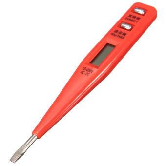 harga Digital LCD AC/DC Penguji Tegangan Listrik Peringatan Tespen Pendeteksi Sensor Tongkat Lazada.co.id