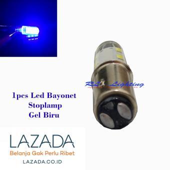 Harga Led Stoplamp 12Led Gel Bayonet Nyala Strobo 1pcs - Biru