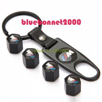 Harga LeadSea 4 pcs Metal Stem Air Black Car Wheel Tire Valve Caps for BMW 13